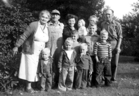 Picture # 1 Mom and Dad with 7 little boys on their 10th wedding anniversary