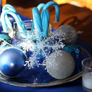 Decorating for a Winter Party for Under $5.00 per Table